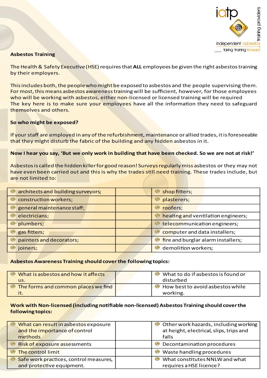 News iatpiatp independent asbestos training providers iatp asbetos awareness web2 1betcityfo Images