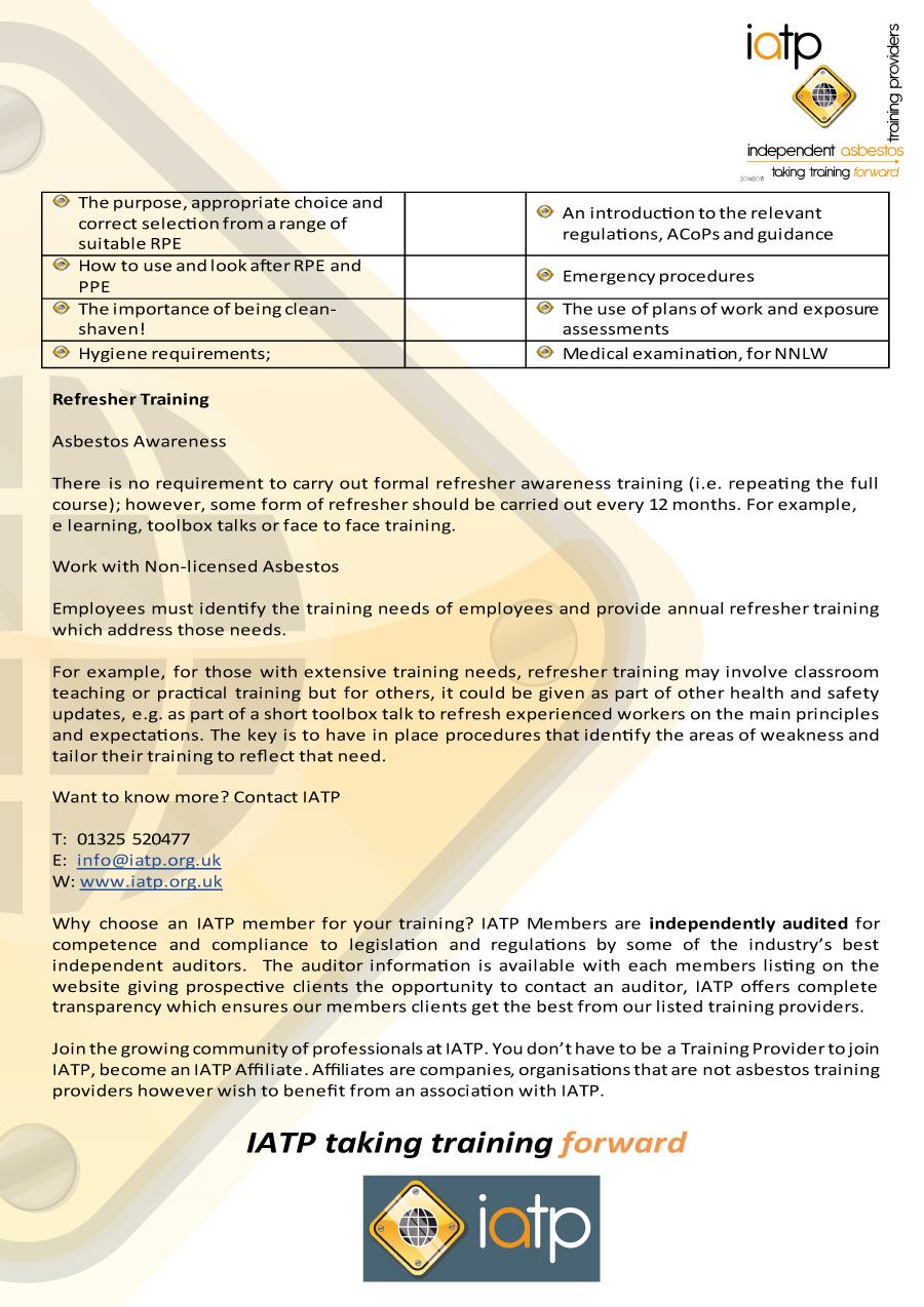 News iatpiatp independent asbestos training providers iatp asbetos awareness2 1betcityfo Images